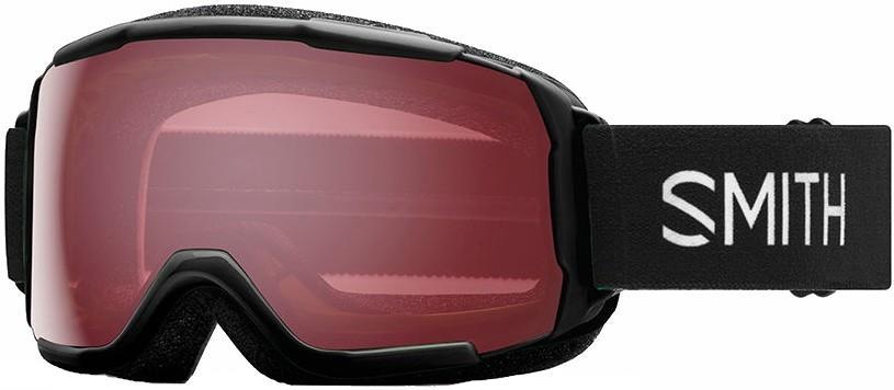 Smith Grom CP ED Red Kid's Snowboard/Ski Goggles, XS Black