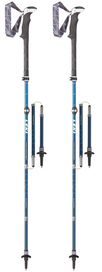 Leki Micro Vario Carbon AS Folding Trekking Poles, 110-130cm Blue