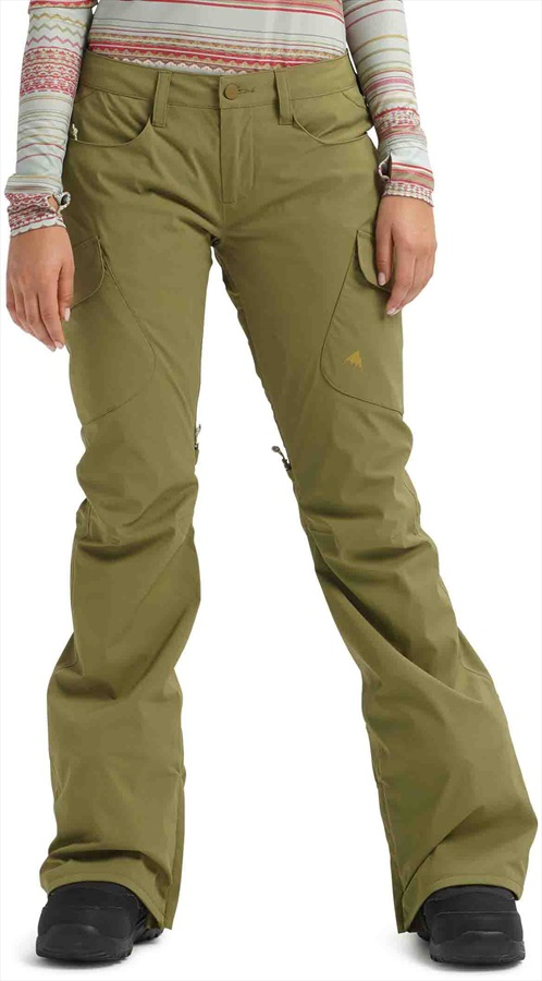 Burton Gore-Tex Gloria Women's Ski/Snowboard Pants, S Martini Olive