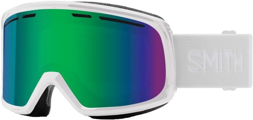 Smith Range Green Sol-X Mirror Snowboard/Ski Goggles L White
