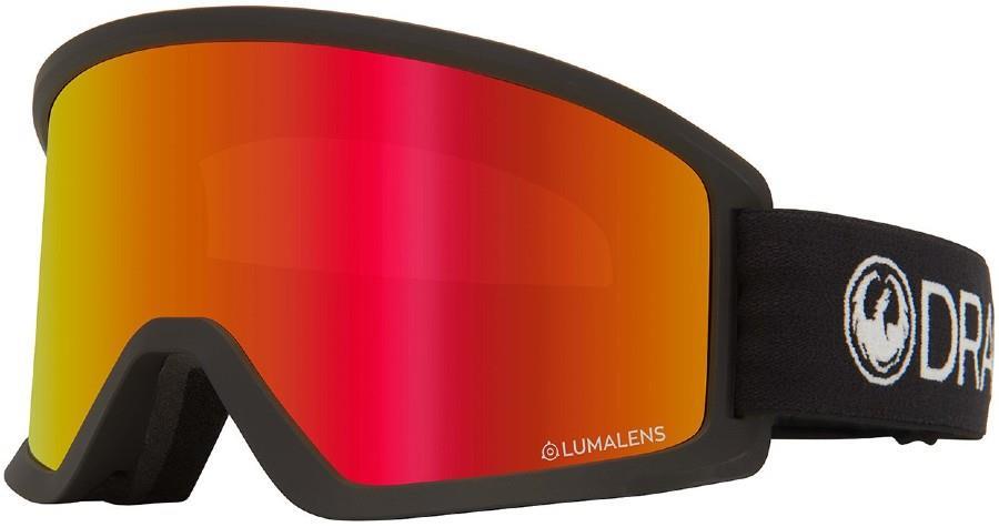 Dragon DX3 OTG Red & Extra Amber Lens Snowboard/Ski Goggles, M Black