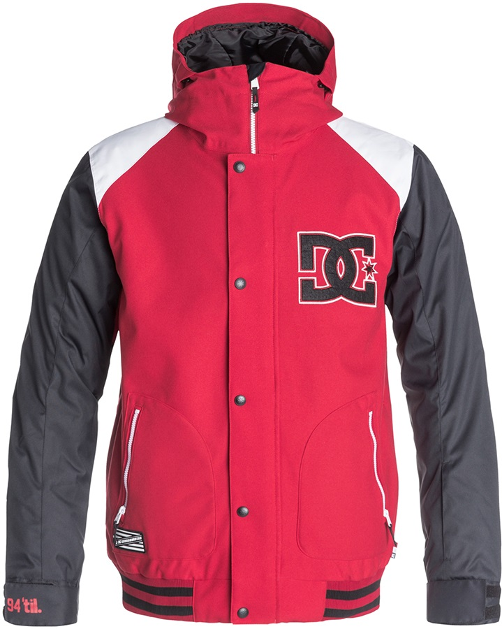 DC DCLA Ski/Snowboard Jacket, M, Tango Red