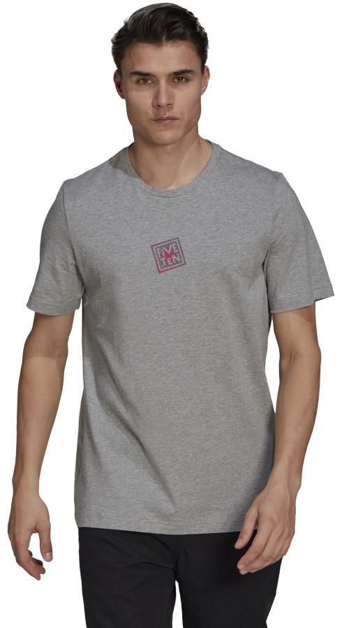Adidas Five Ten Logo Heritage Cotton T-shirt, S Heather Grey