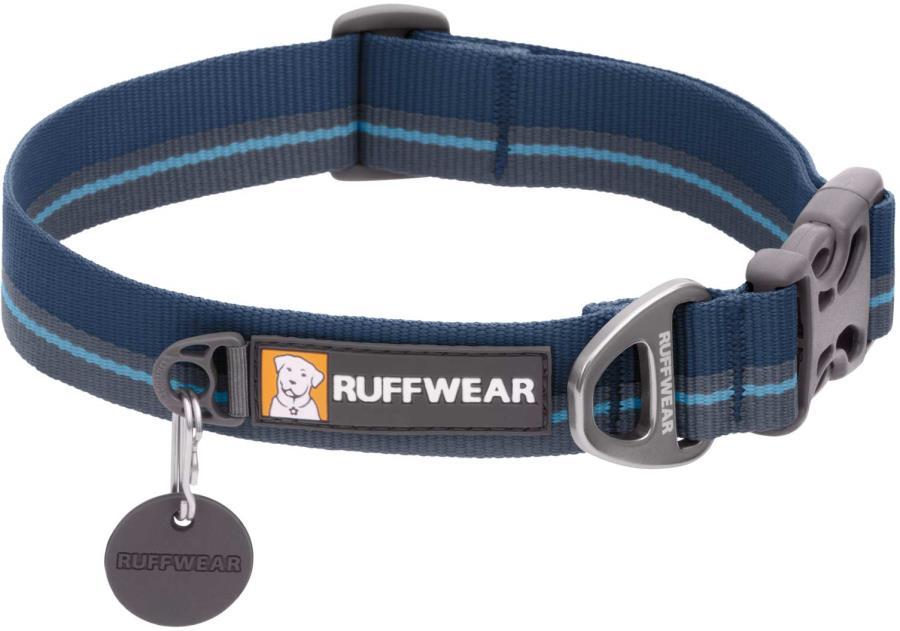 Ruffwear Flat Out Webbing Dog Collar, Large Blue Horizon