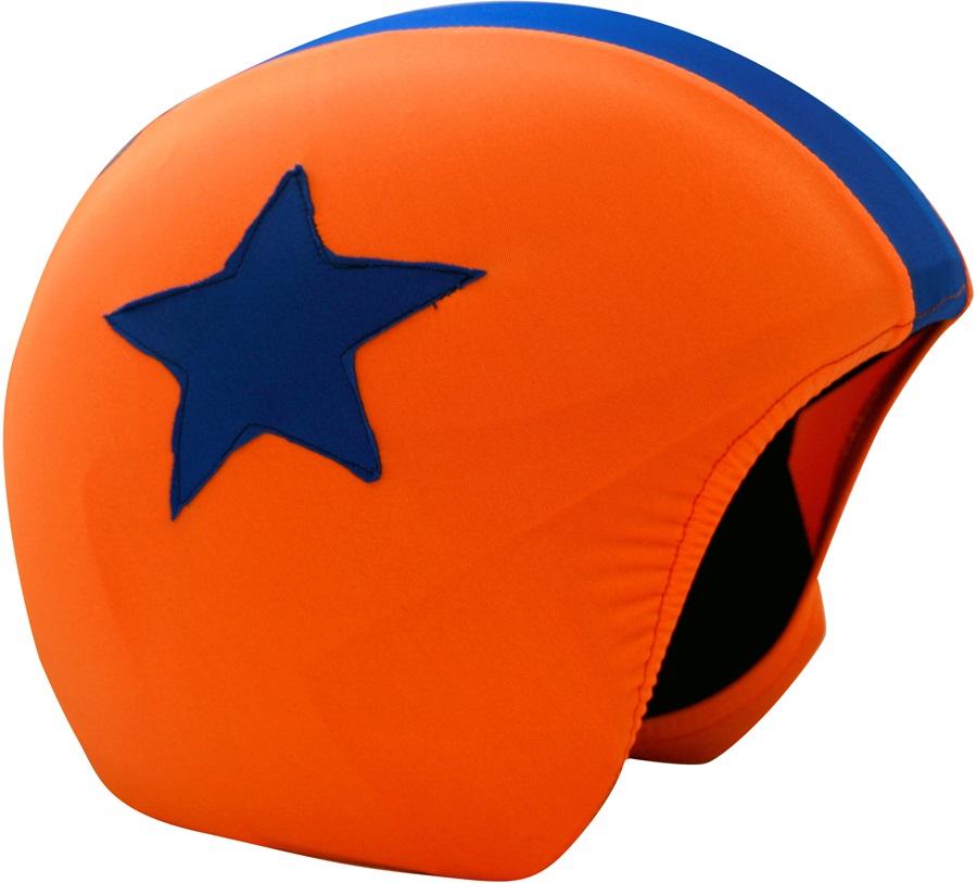 Coolcasc Foggy Days Ski/Snowboard Helmet Cover, Foggy Star Orange