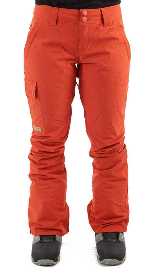 DC Recruit Women's Ski/Snowboard Pants, S Hot Sauce