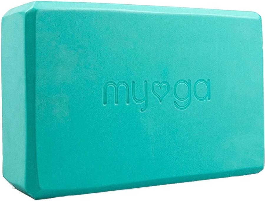Myga Back To Basics Foam Yoga/Pilates Block, Turquoise