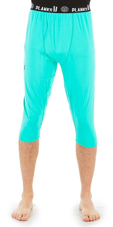 Planks Fall-Line Base Layer 3/4 Leg Thermal Bottoms, L Teal