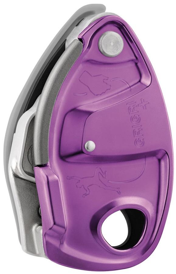 Petzl GriGri + Plus Rock Climbing Belay Device, Violet