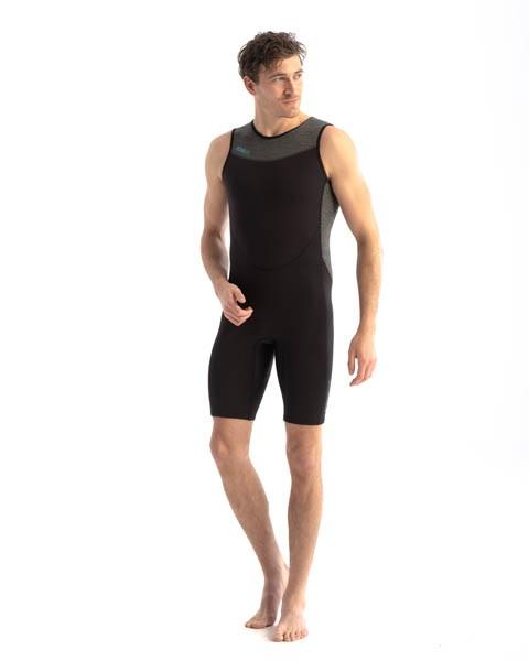 Jobe Perth 1.5mm Men's SUP Shorty Wetsuit, XL Black Grey 2021