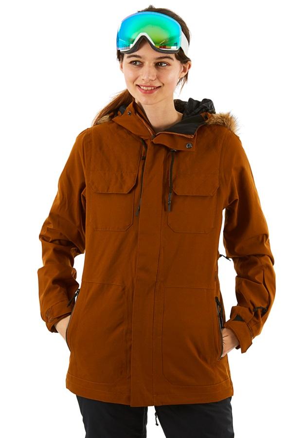 Volcom Shadow Insulated Women's Ski/Snowboard Jacket, M Copper