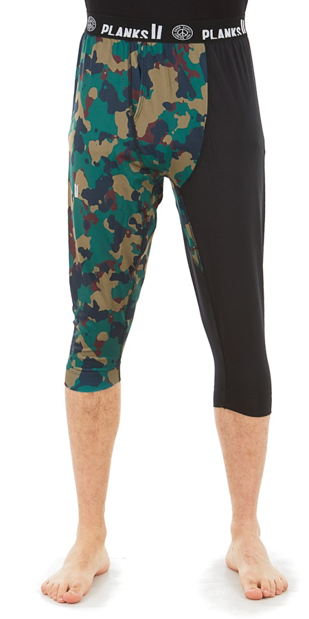 Planks Fall-Line Base Layer 3/4 Leg Thermal Bottoms, S Autumn Camo