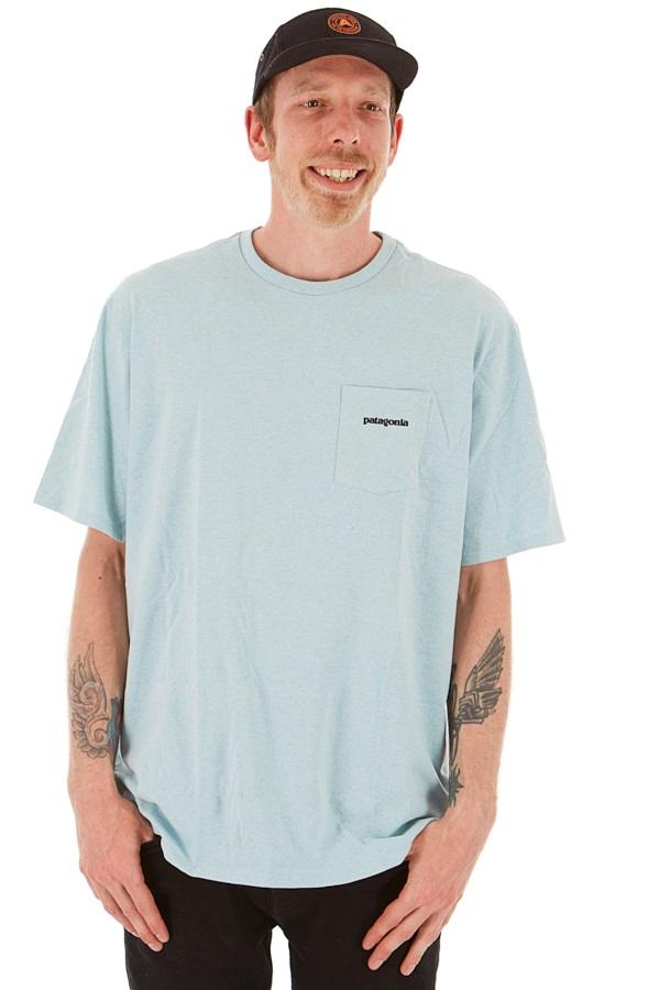 Patagonia Adult Unisex P-6 Logo Pocket Responsibili-Tee T-Shirt, S Big Sky Blue