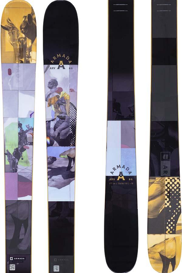 Armada ARV 86 Skis 163cm, Black/Blue/Orange, Ski Only, 2022