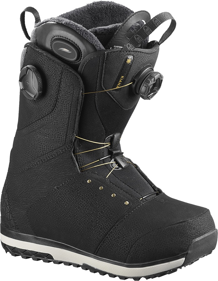 Salomon Kiana Toast BOA Womens Snowboard Boots, UK 5 Black 2020