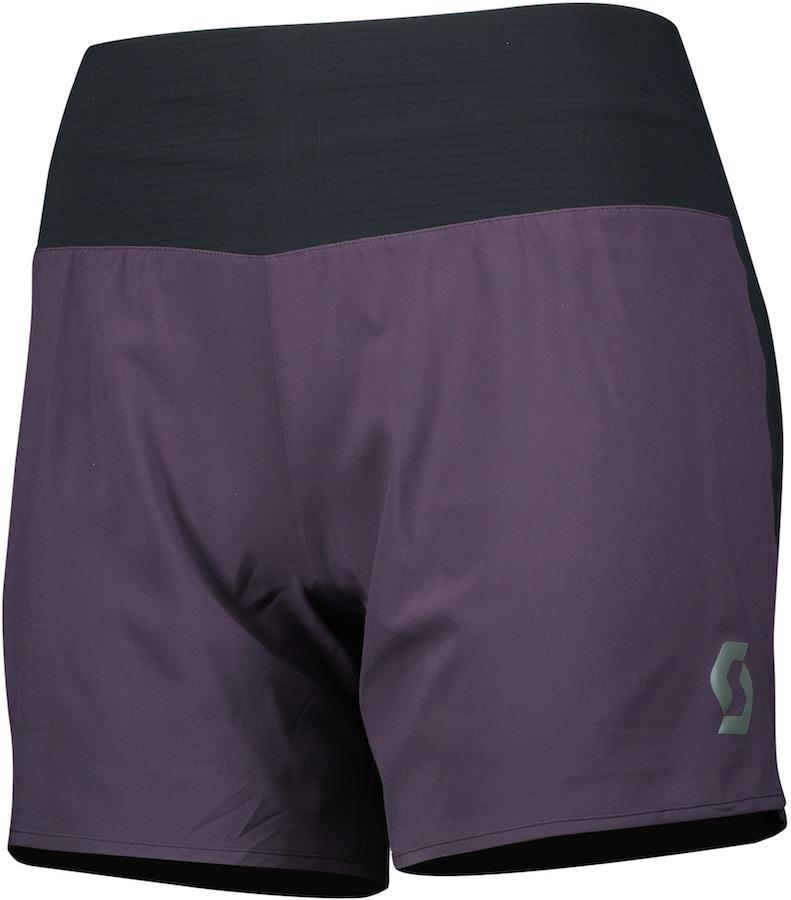 Scott Trail Run Women's DRYOxcell Running Shorts, UK 6-8 Dark Purple
