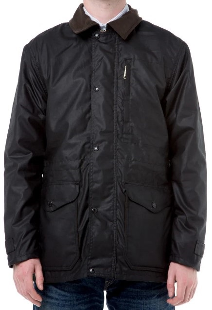 Filson Cover Cloth Mile Marker Coat/ Hiking Jacket, S Black