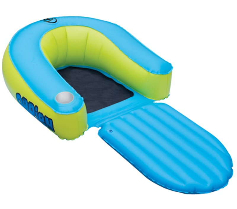 O'Brien EZ Lounge Leisure Float Inflatable, 1 Rider, Green Blue, 2015