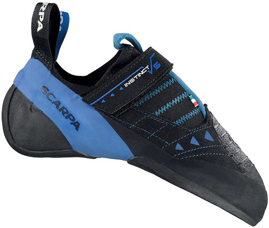 Scarpa Instinct VS-R Rock Climbing Shoe UK 5.25 | EU 38.5 Black/Azure