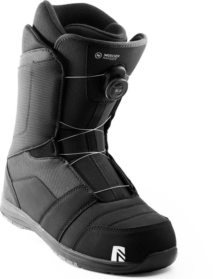 Nidecker Mens Ranger Boa Snowboard Boots, Uk 12 Black 2021