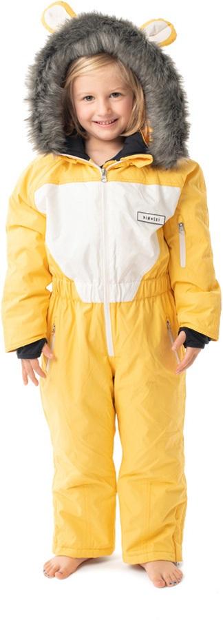 Dinoski Cub Ski Suit Kids' Insulated Snow Onesie, 2 - 3 Years Yellow