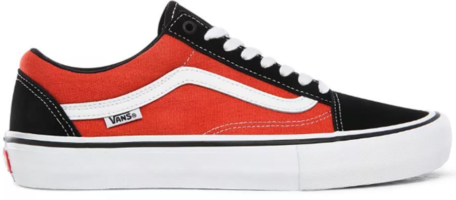 Vans Old Skool Pro Skate Shoes, Uk 10 Black/Orange
