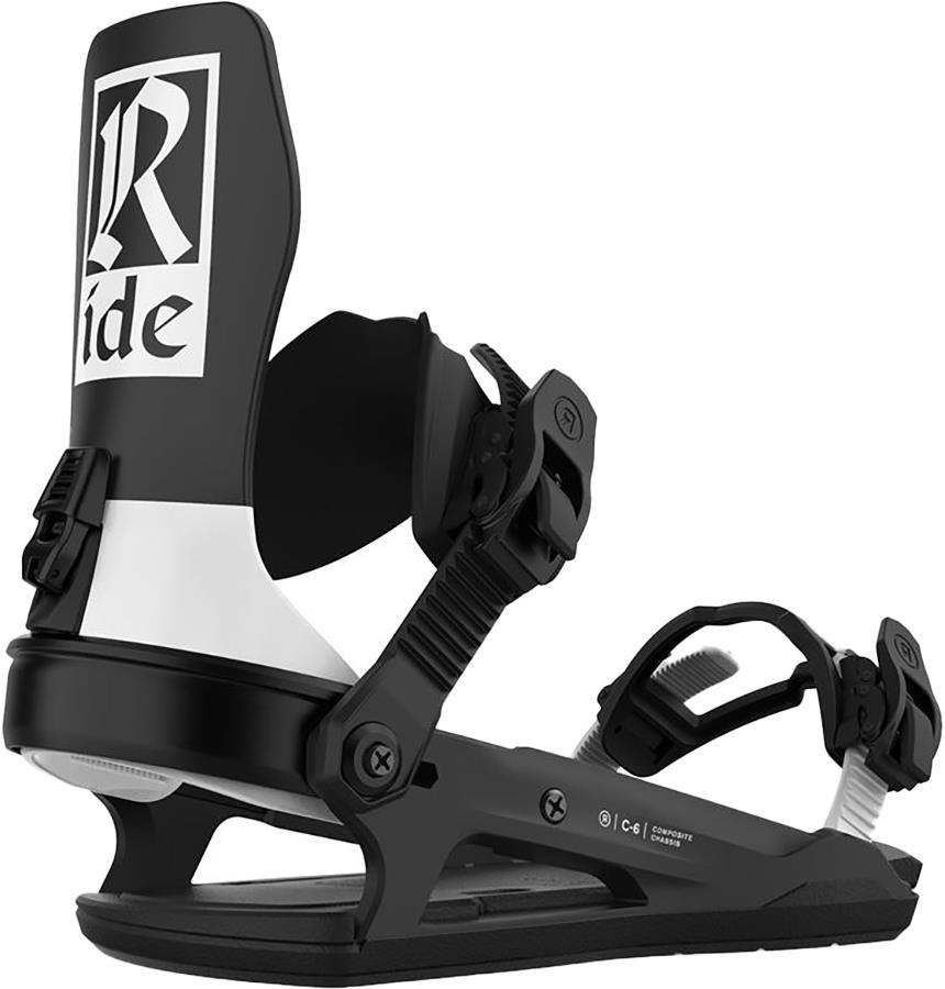 Ride C-6 Snowboard Bindings, M Classic Black 2021