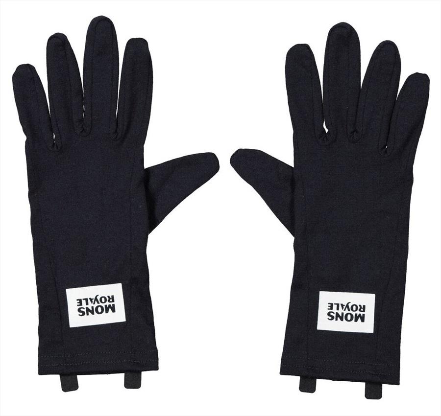 Mons Royale Cold Days Merino Wool Glove Liner, XL Black