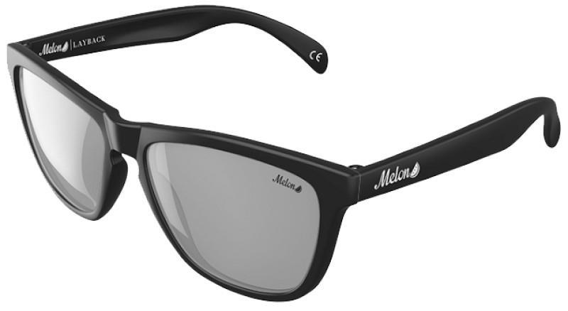 Melon Layback Smoke Polarized Sunglasses, M Platinum
