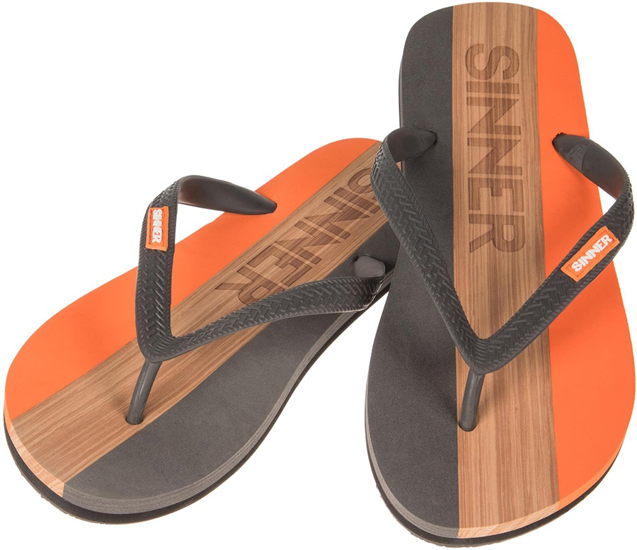 Sinner Capitola Men's Flip Flops, UK 11 / EU 45 Orange/Brown