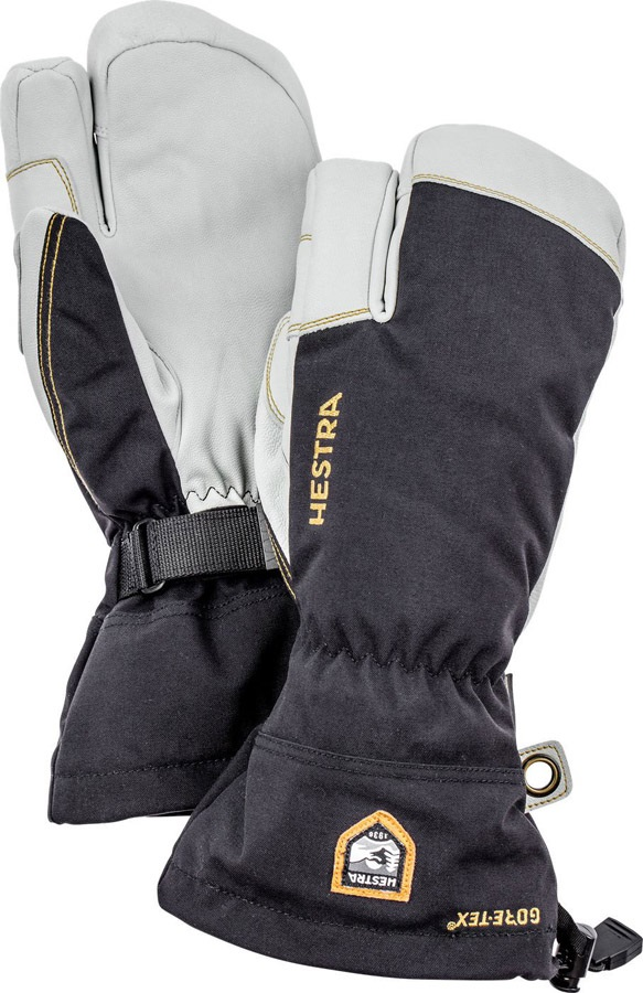 Hestra Army Leather Gore-Tex 3 Finger Ski/Snowboard Mitts, M