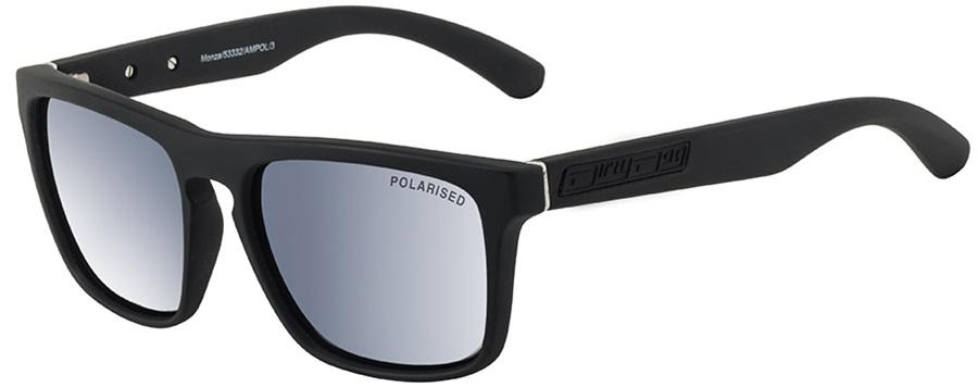 Dirty Dog Monza Gey/Silver Mirror Polarized Sunglasses L Satin Black