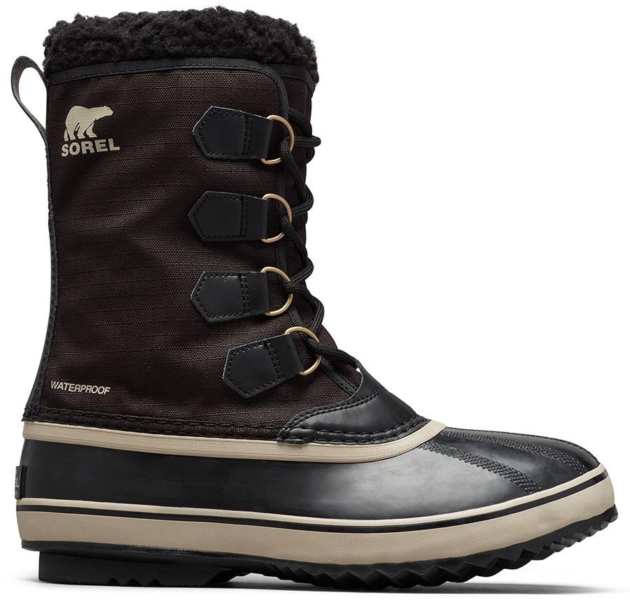 Sorel Adult Unisex 1964 Pac Nylon Men's Winter Snow Boots, Uk 7.5 Black/Ancient