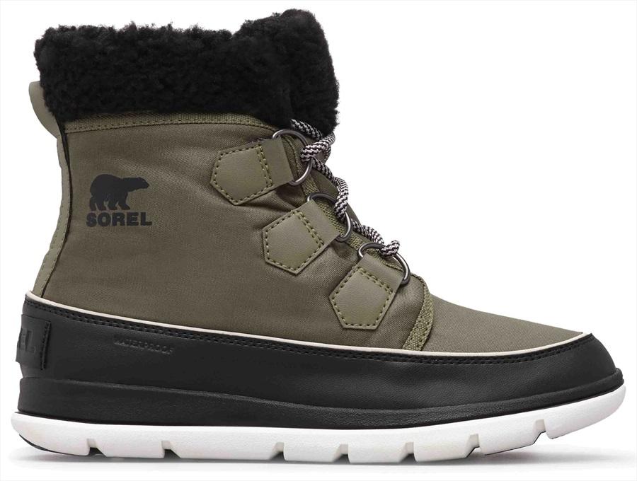 Sorel Explorer Carnival Women's Snow Boots, UK 4.5 Hiker Green/Black