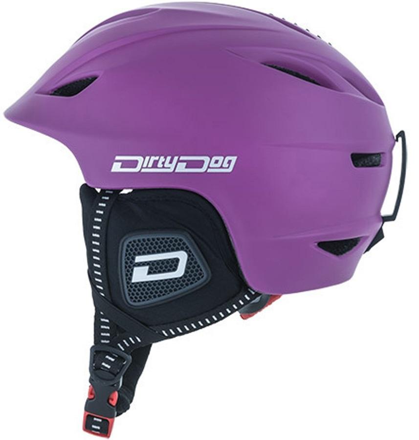 Dirty Dog Eclipse Snowboard/Ski Helmet XL Pastel Purple
