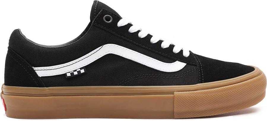 Vans Skate Old Skool Trainers/Shoes, UK 7 Black/Gum