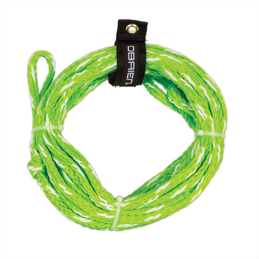 O'Brien Heavy Duty Towable Tube Rope, For 2 Rider Tubes Green