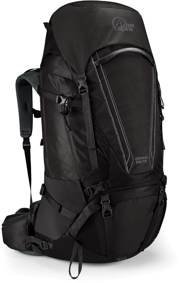 Lowe Alpine Diran 65:75 Trekking Backpack, 75L Anthracite/Grey