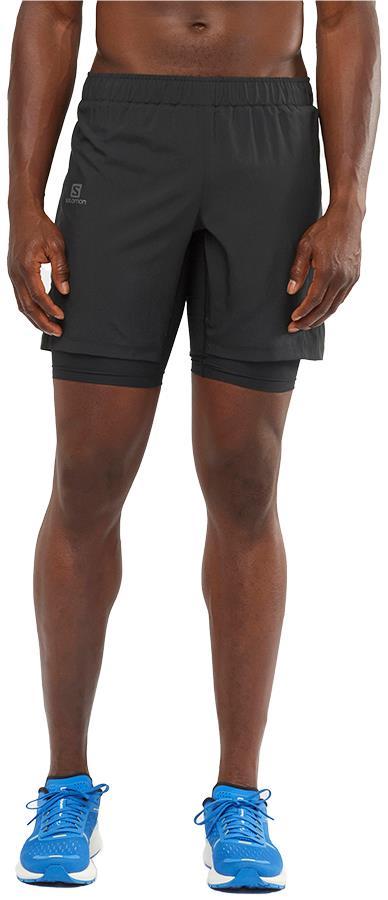 Salomon XA Twinskin Men's Gym/Running Shorts, S Black