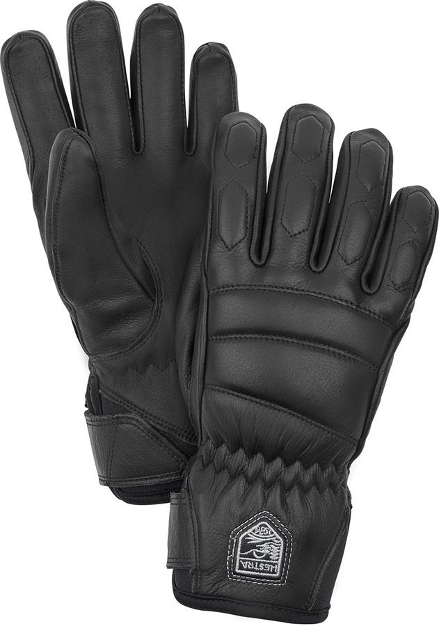 Hestra Leather Fall Line Women's Ski/Snowboard Gloves, M Black