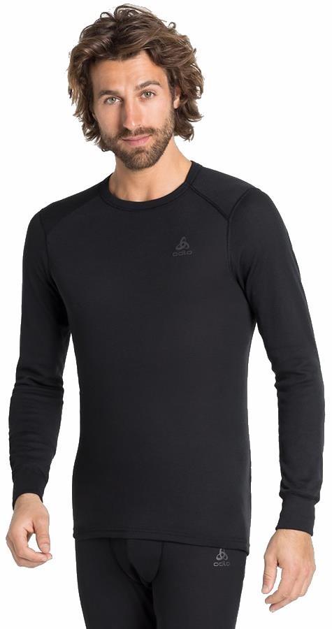 Odlo Active Warm Eco Men's Long Sleeve Base Layer, XL Black