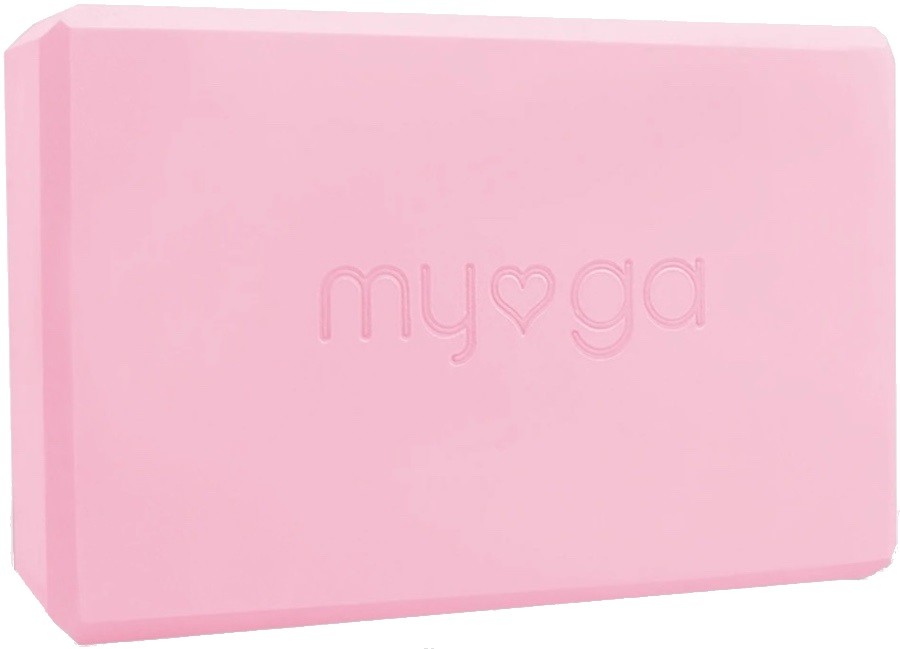 Myga Back To Basics Foam Yoga/Pilates Block, Dusty Pink