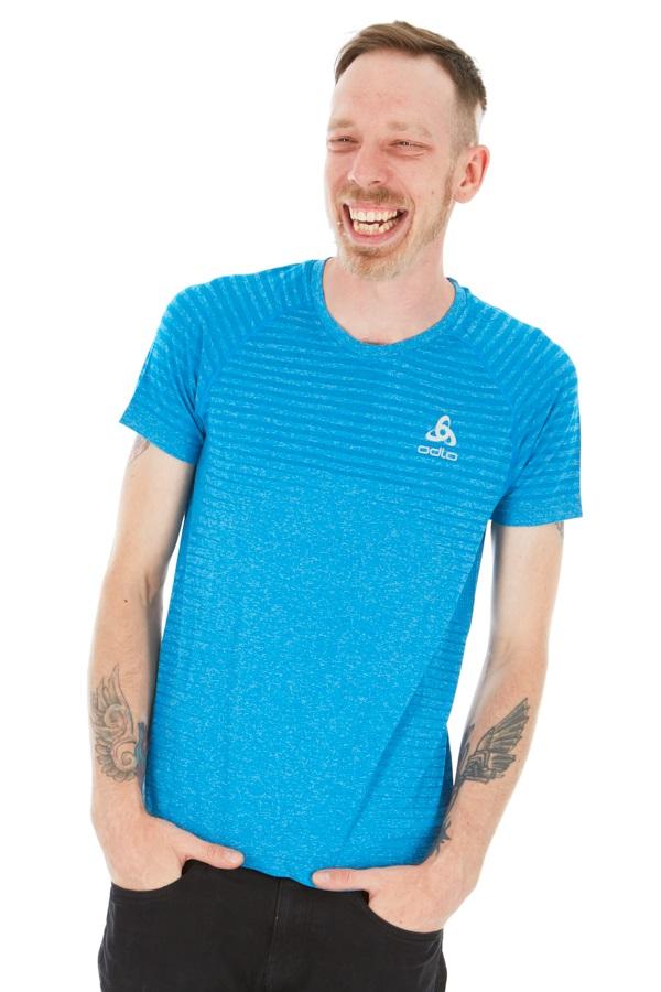 Odlo Seamless Element Short Sleeve T-Shirt, S Mykonos Blue Melange