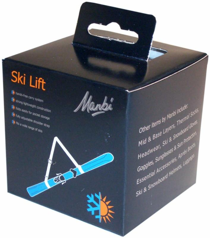 Manbi Ski Lift Hands-Free Ski Carry System, Black