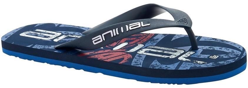 Animal Costaz Aop Flip Flops, UK 7 Lethal Blue