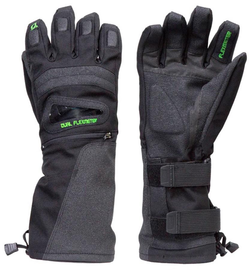 Demon Flexmeter Double Sided Ski/Snowboard Wrist Guard Gloves, XL
