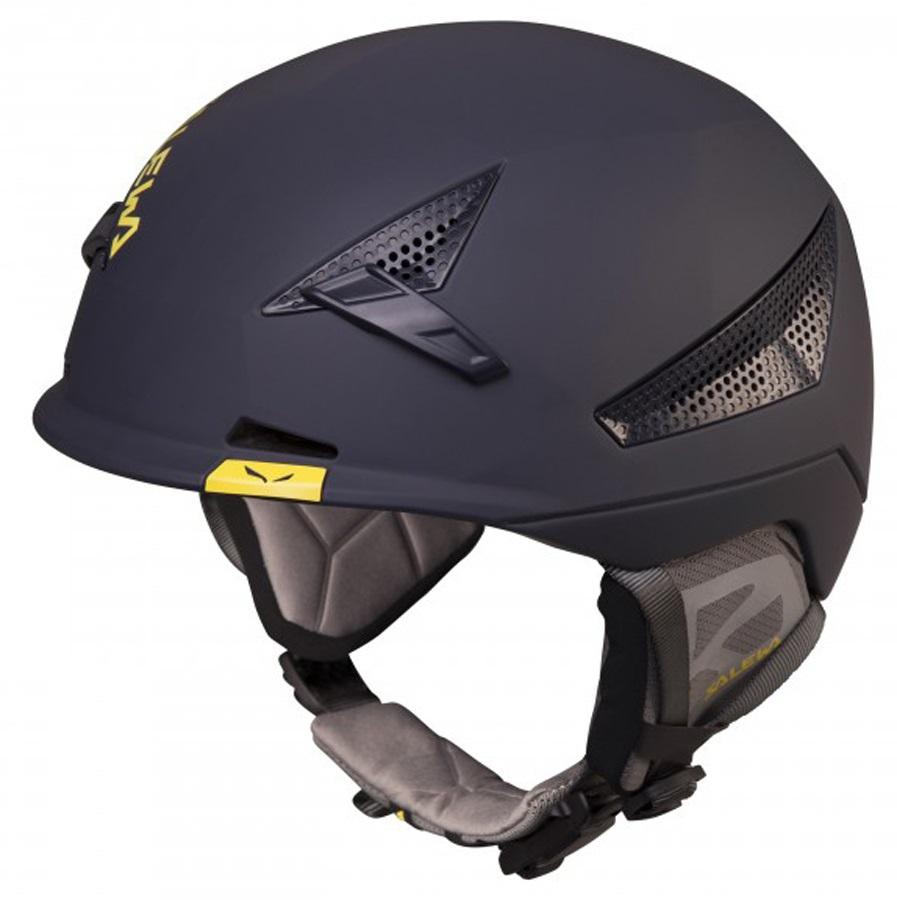 Salewa Vert FSM Rock and Ski/Snowboard Helmet, L/XL, Night Black