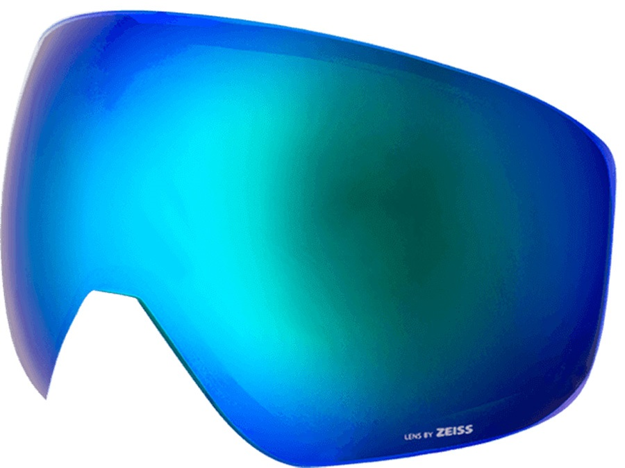 Melon Jackson Ski/Snowboard Goggle Lens, One Size Blue Chrome