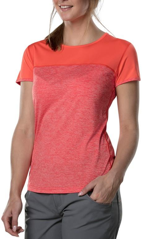 Berghaus Voyager Tech Women's Short Sleeve T-Shirt, UK 8 Hot Coral