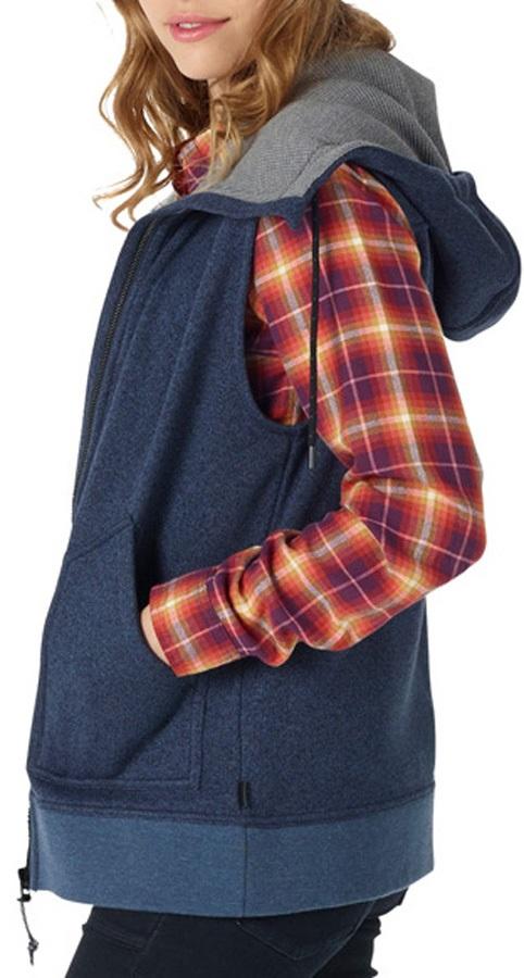 Burton Women's Starr Hooded Vest Sweater Gilet, S Mood Indigo Heather